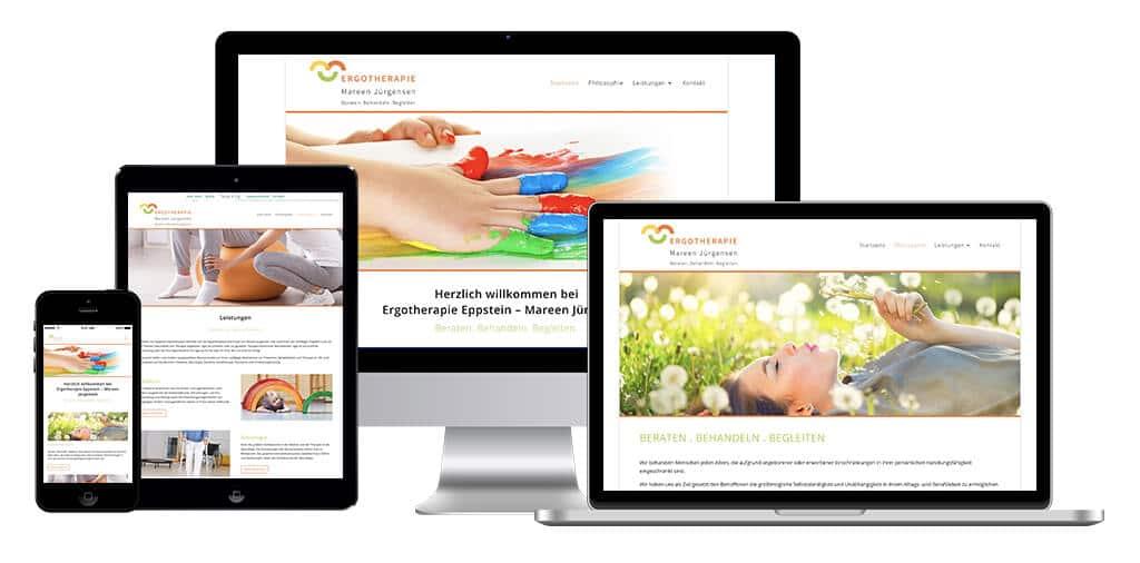 Mockup der Referenz: Ergotherapie Mareen Jürgensen, erstellt von Stephan Benz Digital PR